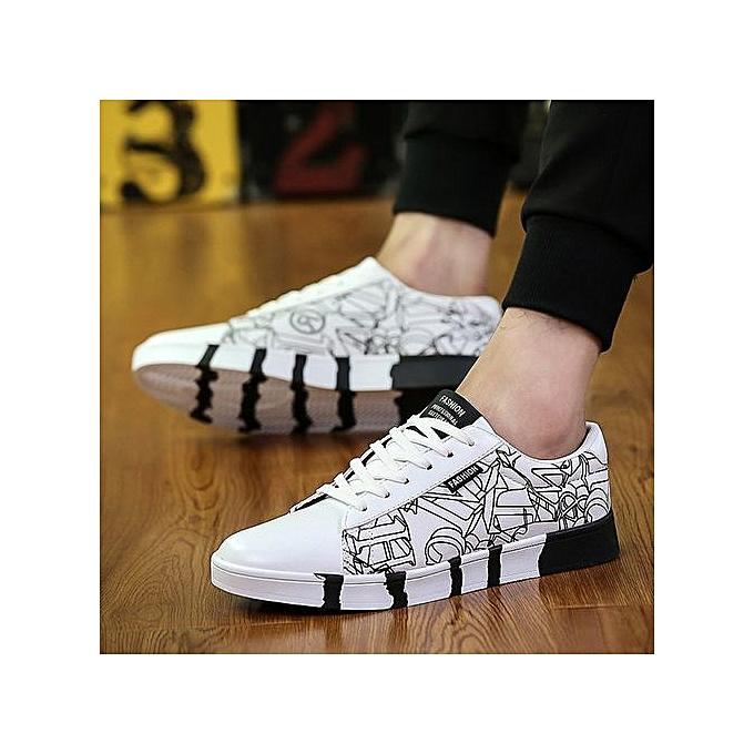 OEM New hommes casual trend canvas chaussures fashion sports chaussures running hommes chaussures-blanc à prix pas cher    Jumia Maroc