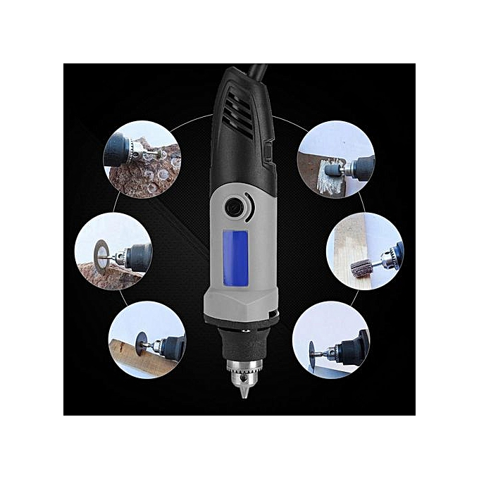 Other 400W Electric Die Grinder Power Drill 6 Positions Variable Speed rougeary Tool 220V (EU Plug) à prix pas cher