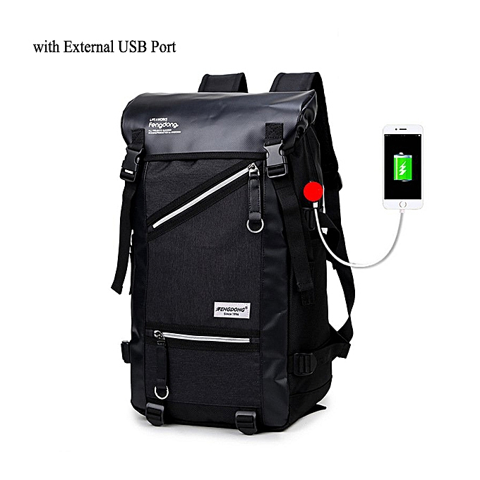 Fashion Men Large Capacity Travel Backpack Laptop Bag 35L Hiking Camping Bag Waterproof Backpack à prix pas cher