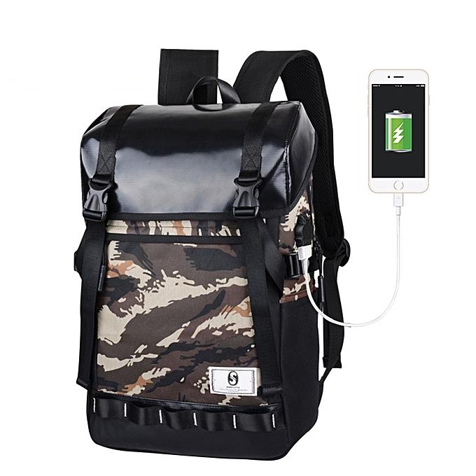 Fashion blicool travel wallet Men's Oxford Luminous High-capacity School wallet Travel Backpack wallet CE-Camouflage à prix pas cher