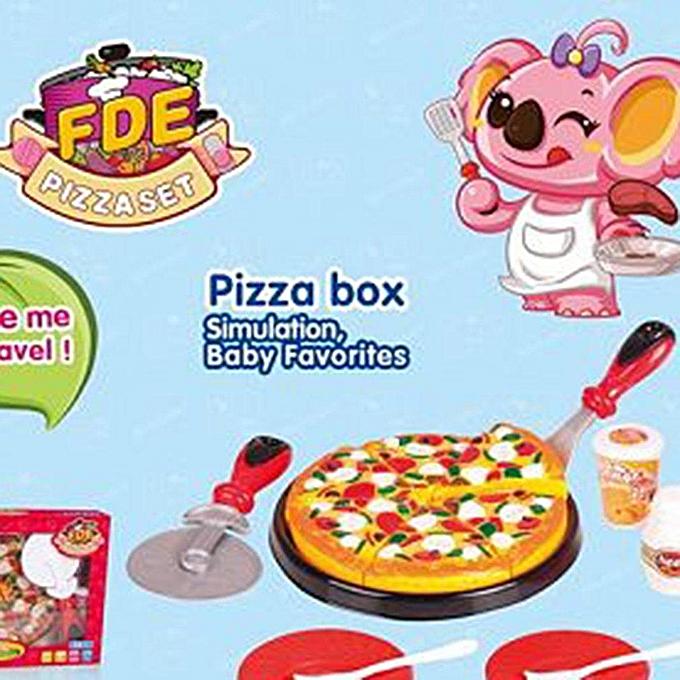 Autre UR Creative Pizza Toy Set Bébé Enfants Non-toxique Début Jouet Éducatif827315 à prix pas cher