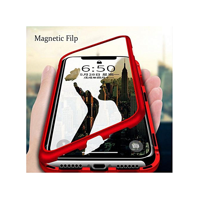 coque magnetique iphone xr touge