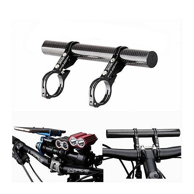 UNIVERSAL GUB G-202 Bicycle Bike Double Handlebar Extension Mount Carbon Fiber Extender Light Lamp Holder à prix pas cher