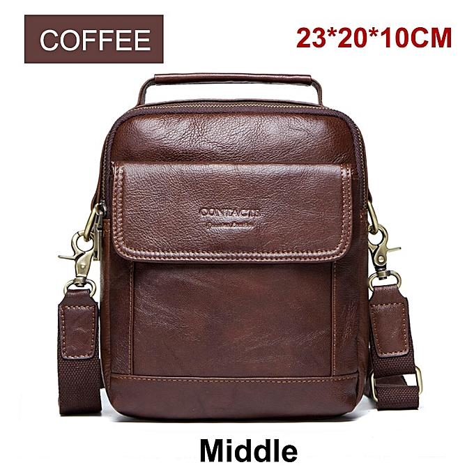 Other CONTACT'S  Cow Leather Messenger Bags Flap Casual Men Solid Handbags Famous Brand Small Male Shoulder Crossbody Bags(style5) à prix pas cher