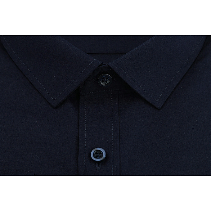 Fashion Men's Solid Couleur Long Sleeve Business Formal Shirts Clothing Blouse NY 37 à prix pas cher
