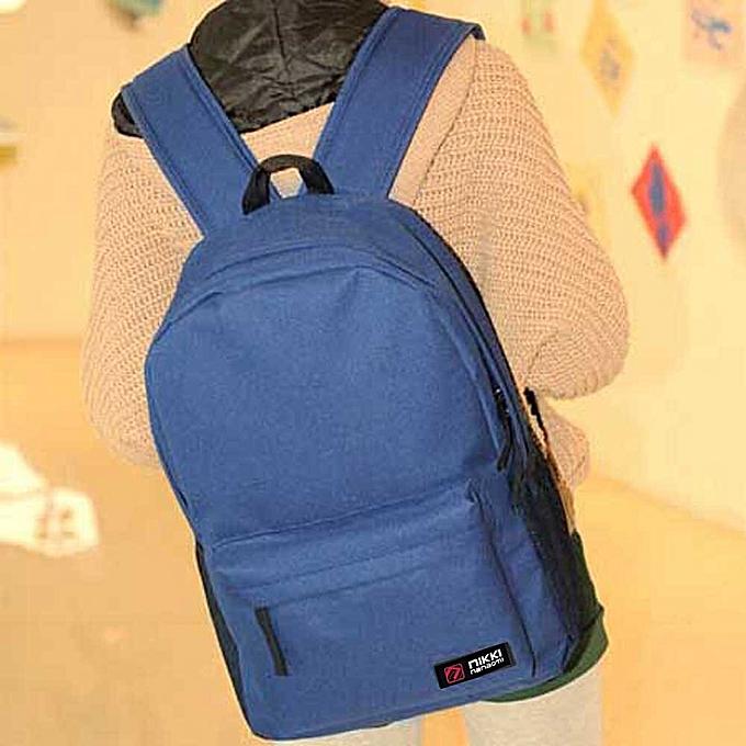 mode Tcetoctre femmes Hommes Student  sac à dos School Shoulder sac à dos  Handle sac bleu-bleu à prix pas cher