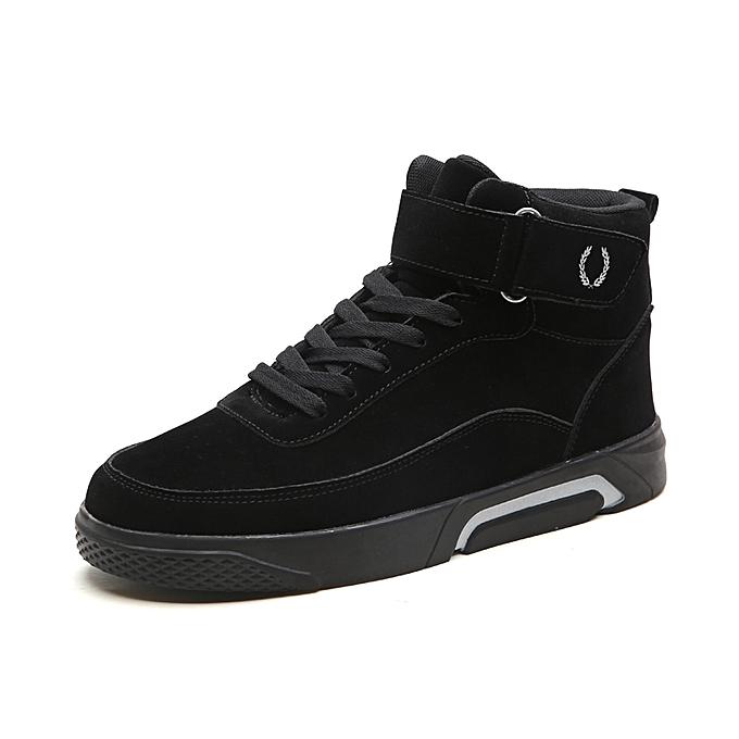 Fashion Casual High Top baskets-noir à prix pas cher