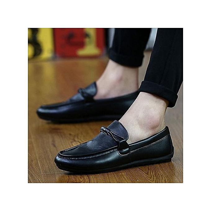 Fashion Pantoufles Hombre 2018 Fashion Big Taille Full For Grain Leather Men chaussures à prix pas cher    Jumia Maroc