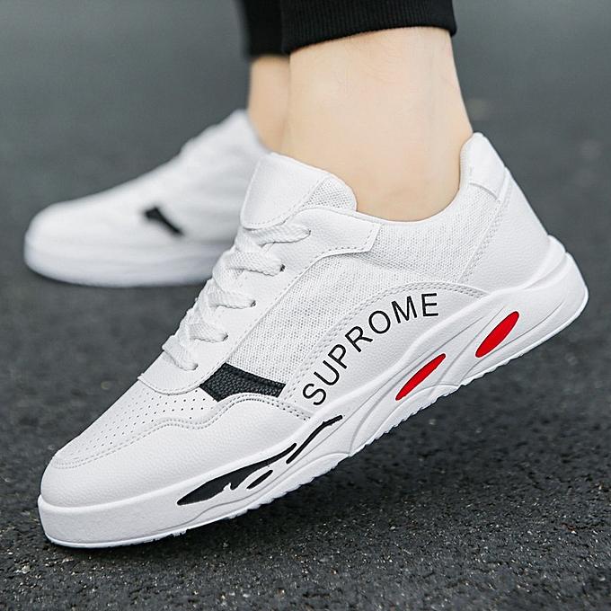 Other nouveau mode Autumn respirant toile blanc chaussures à prix pas cher
