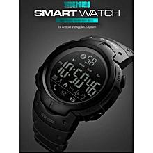 93d6d95d6 Bluetooth calories podomètre montre intelligente SKMEI 1301 pour hommes LED  eau résistant aux chocs horloges multifonction