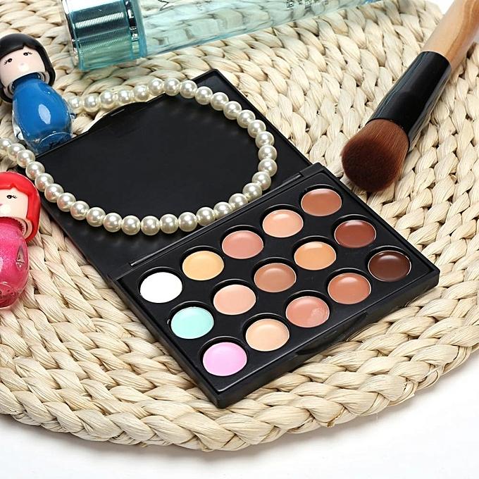 ... 15Colors Professional Makeup Concealer Foundation Contour Facial Eye Circle Blemish(#1)