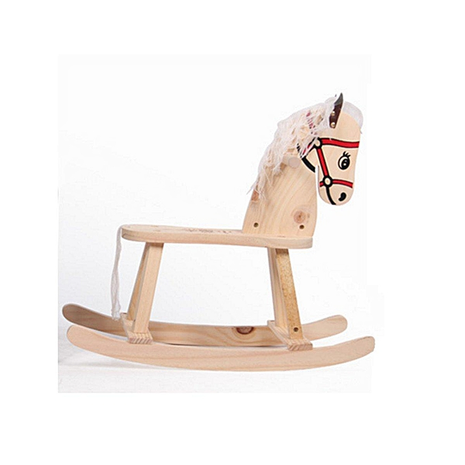 OEM Natural Wooden Rocking Horse Nursery Toddler Playroom Baby Rocker Toy Kids Gif à prix pas cher