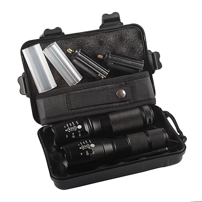 Electronic 2pc X800 ShadowHawk Tactical Flashlight LED Military Grade G700 Torch Lamp à prix pas cher