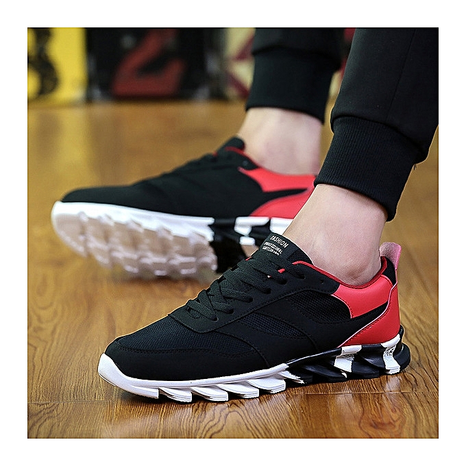 OEM New mesh lace hommes chaussures hommes sports and leisure running chaussures breathable tide Couleur chaussures-noir à prix pas cher