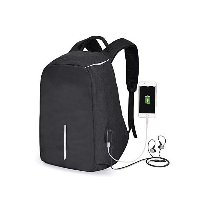 6e81c016c928b حقيبة ظهر للكمبيوتر المحمول 17 بوصة مضادة للسرقة للنساء مع شاحن USBمدمج -