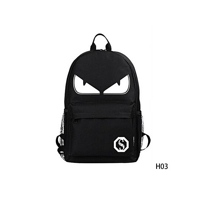 Fashion Fashion Noctilucent Men's Backpack Anime Luminous Backpack Teenagers Men Wohommes Student Cartoon School Bags Casual Backpack à prix pas cher