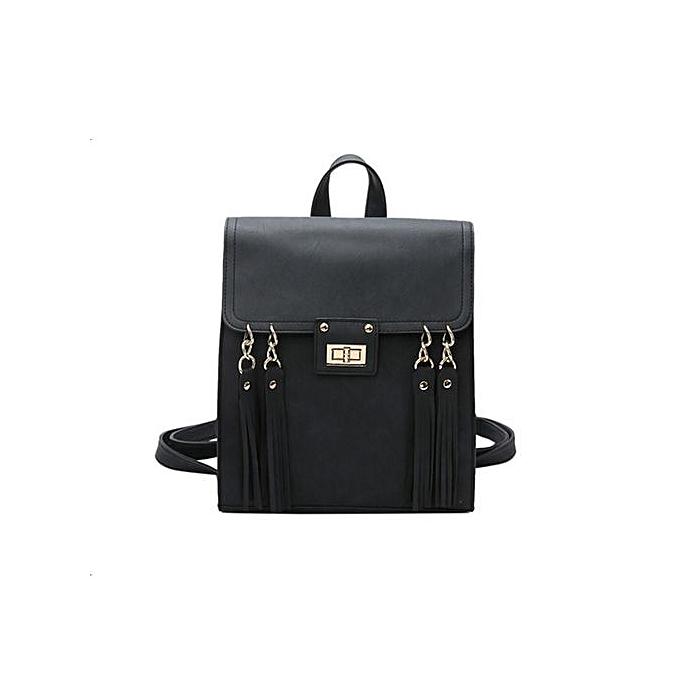 Generic Correponde College Wind Fashion Travel Wild Tassel Backpack Shoulder Bag à prix pas cher