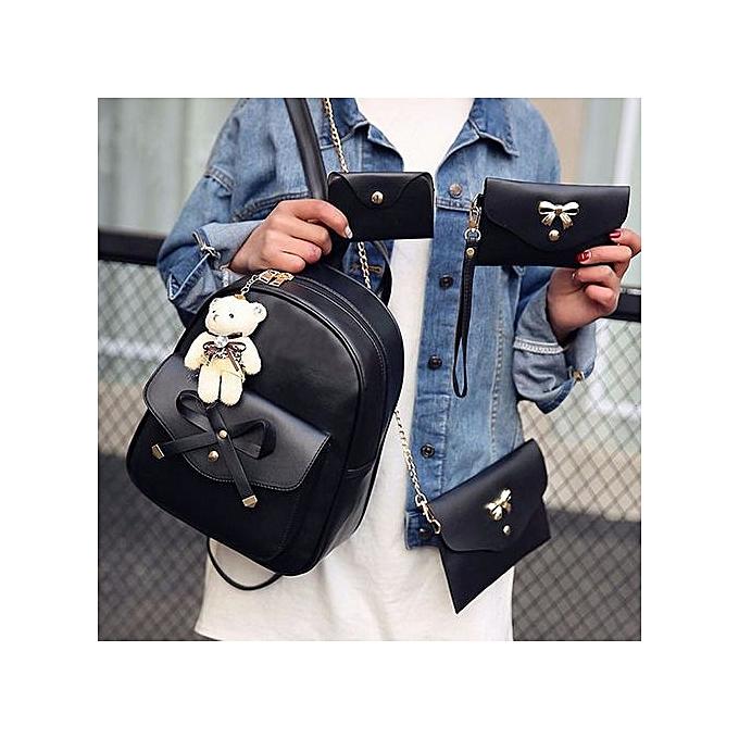 mode Xiuxingzi_femmes Four Sets sac à dos Handsac Shoulder sacs Four Pieces Tote sac bandoulière à prix pas cher