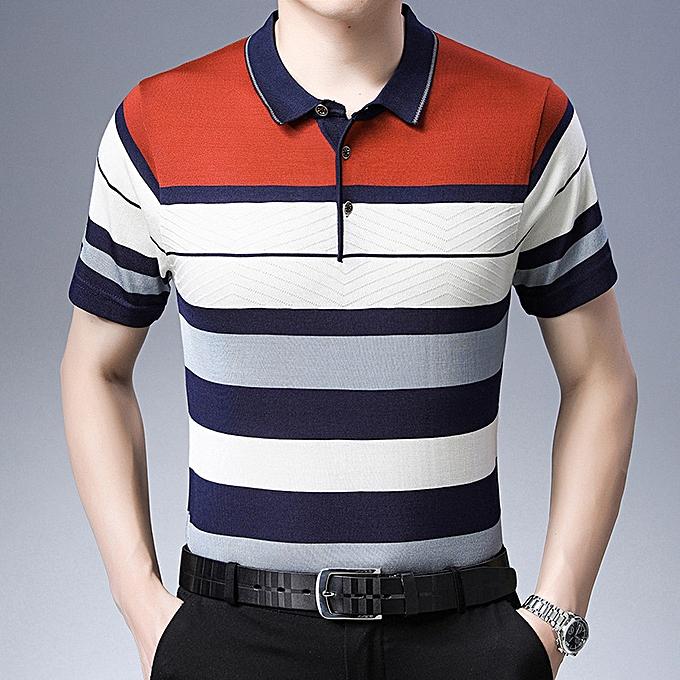 Fashion Business men polo shirt-Orange à prix pas cher