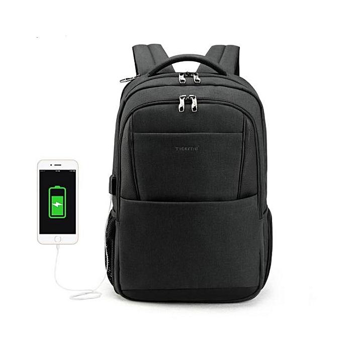 OEM Refined 15.6 laptop sac à dos Hommes usb grand voyage sac à doss slim imperméable anti theft noir à prix pas cher