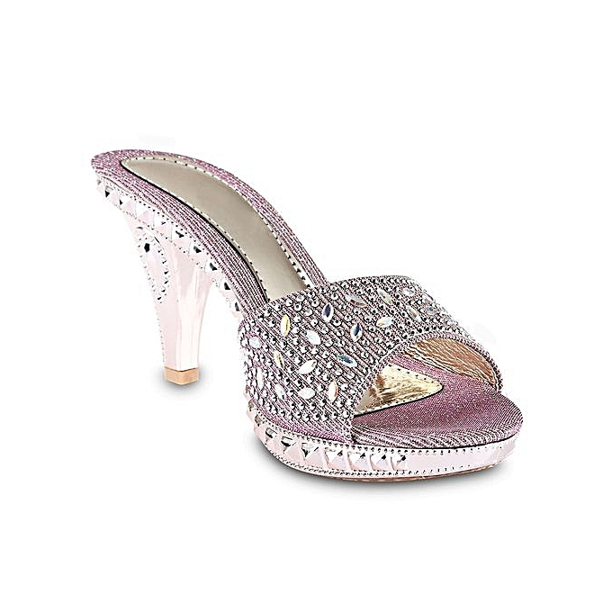 Fashion Open Toe Rhinestone   Thick High Heel pas Slippers-PINK à prix pas Heel cher  | Jumia Maroc e0f53c