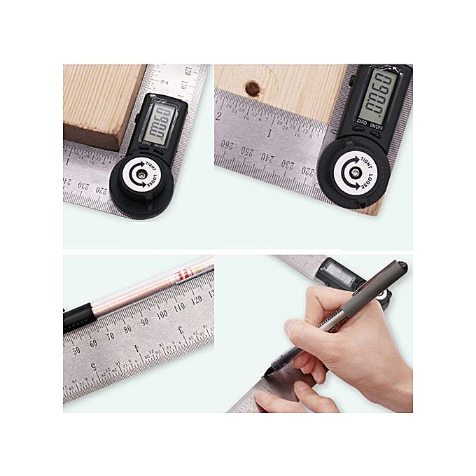 Generic Digital Stainless Steel Angle Finder Meter Prougeractor With Moving Blade Ruler à prix pas cher
