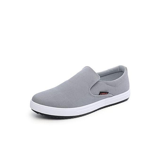 Générique   Canvas Shoes Breathable White Casual Vulcanized Vulcanized Vulcanized Shoes   Slip-On Breathable Flats For  -Gris  à prix pas cher  | Jumia Maroc 98c53d