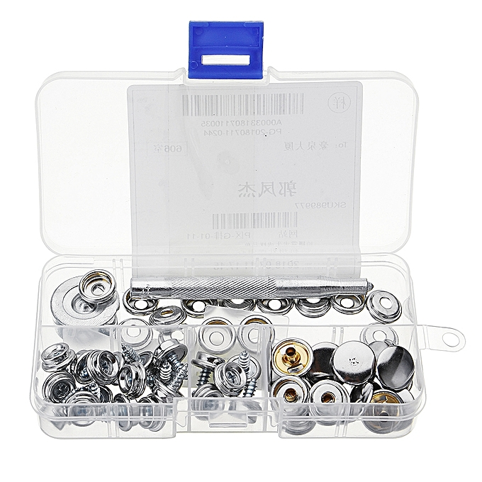 UNIVERSAL 3 8  20Pcs Screw Buckle Snap Buttons Press Studs Snap Fastener Sewing Clothing Craft DIY Fixing Tool à prix pas cher
