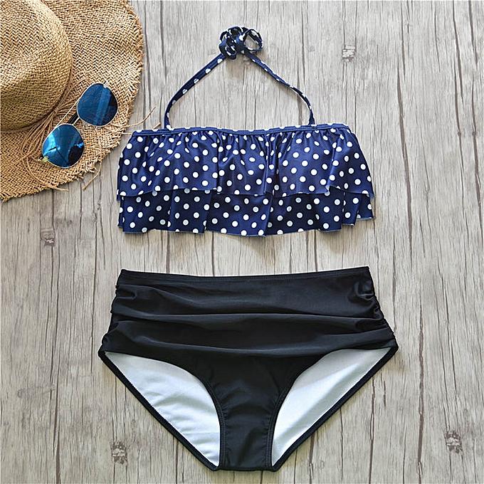 Autre Bikini 2019 femmes High Waist Swimsuit Push Up Plus Taille Swimwear Female Swimming Bathing Suit Beachware Summer Beach Swim Suit(ZX9015-ZLS) à prix pas cher