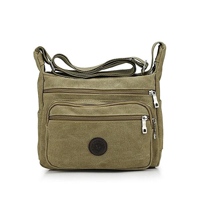 Fashion Men's Canvas Leisuie Crossbody Bag Outdoor Sports Hiking Pack ipad Packet à prix pas cher