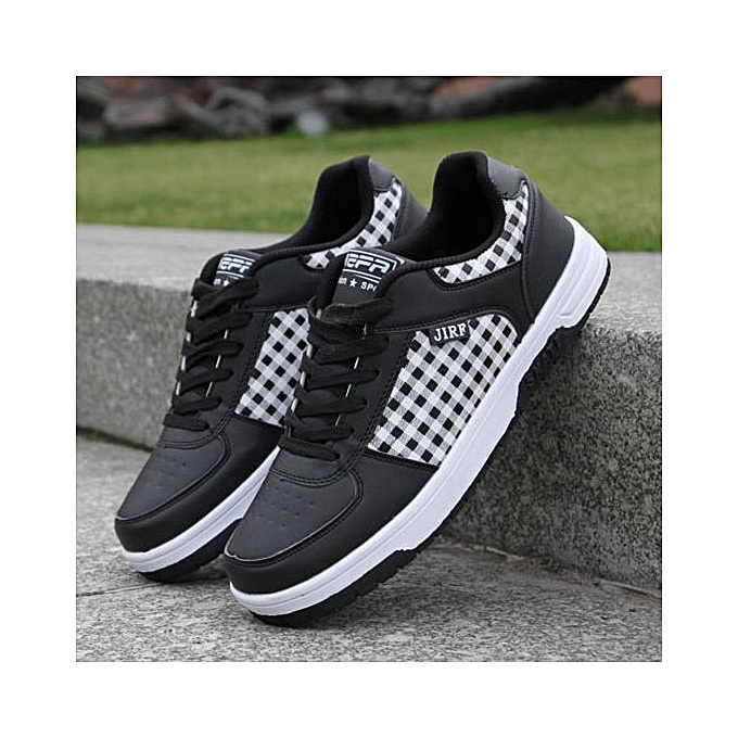 Fashion Men Casual Grid Sports Breathable baskets Running Trainers Flat Lace Up chaussures  à prix pas cher