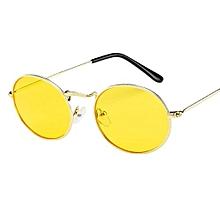 05383219ac Eclipse Glasses Vintage Retro Oval Sunglasses Ellipse Metal Frame Glasses  Trendy Fashion Shades