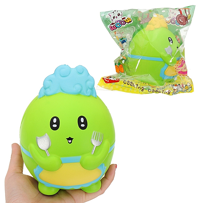 UNIVERSAL WOOW Squishy Dinosaur Chef 15.5CM SFaible Rising Soft Collection Gift Decor Toy  Packaging-bleu à prix pas cher