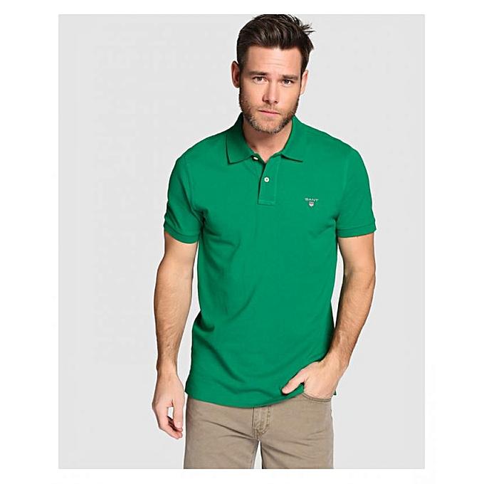 GANT Polo Original en coton piqué - vert à prix pas cher