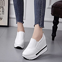 1a5ebcf946ed6 Featured Women  039 s Spring Flatform Shoes Solid Wild Round Toe Casual  Shoes