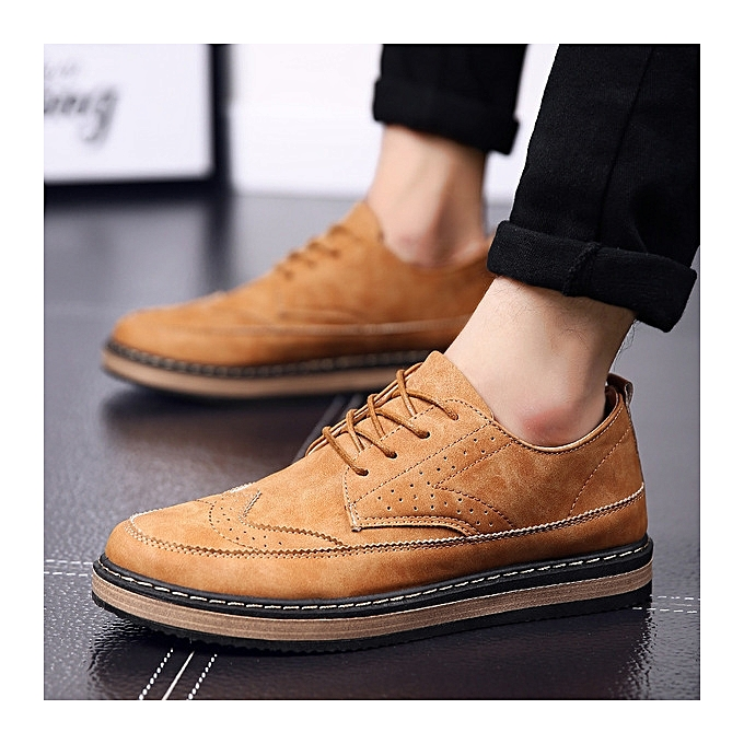 OEM New hommes casual chaussures hommes chaussures Brock hommes wild lace fashion chaussures-jaune à prix pas cher