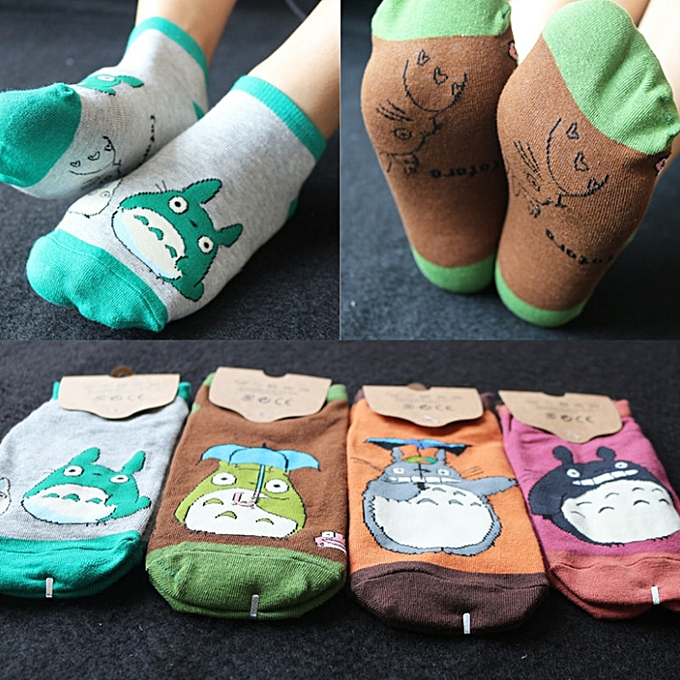 Autre 1 pair cute My Neighbor Totor Cosplay socks plaid striped Animal totor lot socks summer casual personality socks plush toy(3) à prix pas cher