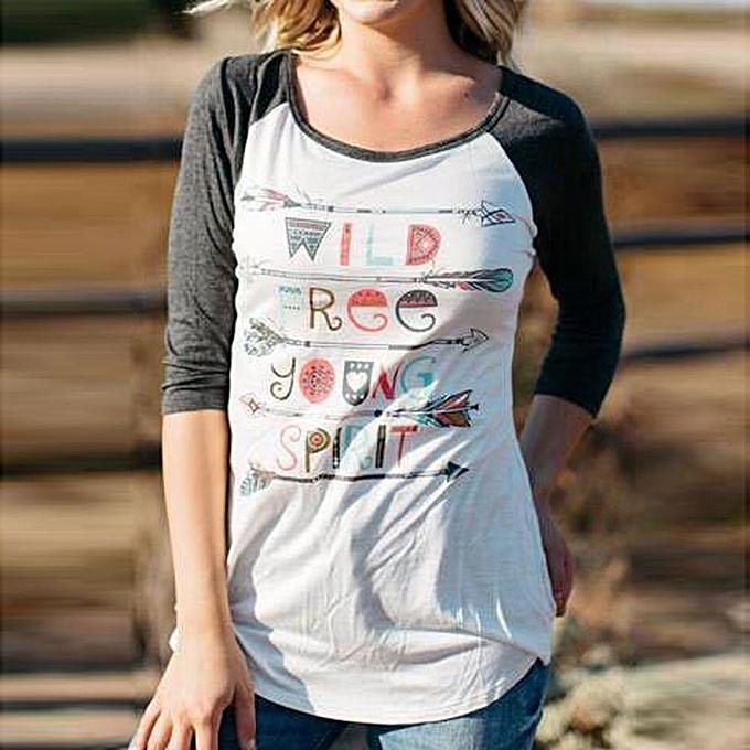 Generic Generic femmes Fashion O-Neck Tops Arrow Print Shirt Blouse A1 à prix pas cher