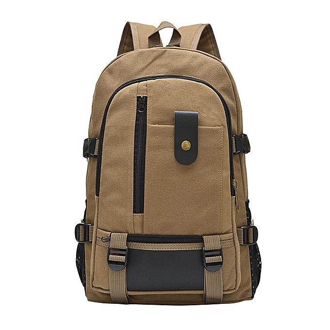 OEM grand capacité sac à dos leisure voyage solid Couleur toile sac à dos student sacKH à prix pas cher
