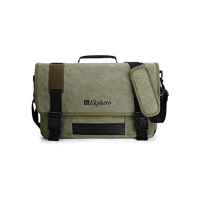UNIVERSAL 17.3-Inch Eco-Friendly Canvas Messenger Bag (Army vert) à prix pas cher
