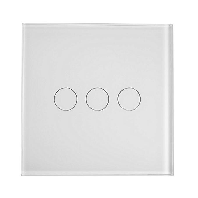 UNIVERSAL 3 Gang 1 WIFI Temporizador Lámpara Interruptor Remoto Control Para Amazon Alexa blanc UK Plug à prix pas cher