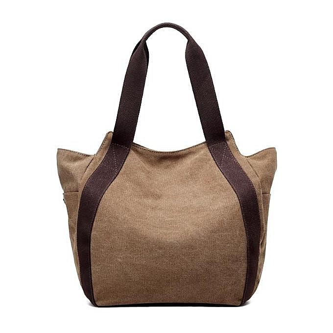 Fashion femmes Canvas Shoulder Bags Vintage Tote Handbags Casual Shopping Bags à prix pas cher