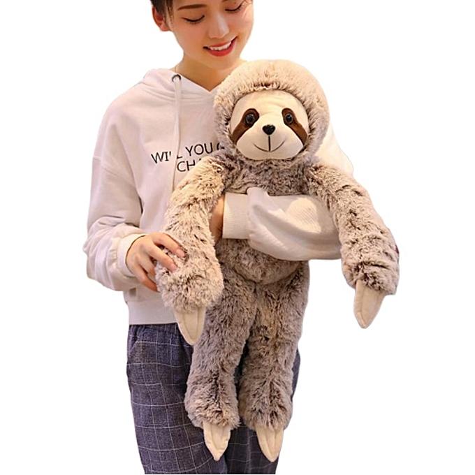 Autre Simulation Sloth Plush Toy Soft Animal Stuffed Lifelike Sloth Dolls Bear Toys For   Enfants Birthday Gift 50 70cm à prix pas cher