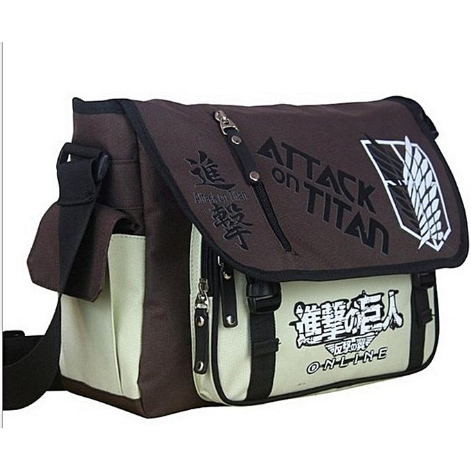 Other Anime Shingeki no Kyojin Shoulder Bag Attack on Titan Sling Pack School Bags Messenger Bag Travel Male Men's Bag(Attack on Titan) à prix pas cher
