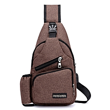 fb531e97d Men Oxford Large Capacity Casual Outdoor Travel USB Charging Port Sling Bag  Chest Bag Crossbody Bag
