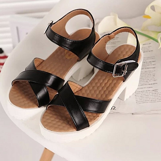Other Summer Korean Leisure Thick heel waterproof platform Sandals-noir à prix pas cher    Jumia Maroc