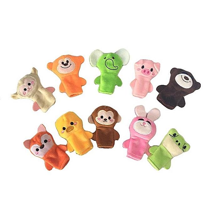 UNIVERSAL 10 pcs Stuffed animal finger dolls set nouveau   toy doll à prix pas cher
