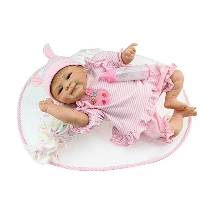 Autre 42cm Full Body Soft Silicone Vinyl Baby Doll Reborn Handmade Toys Couleurful 42cm à prix pas cher