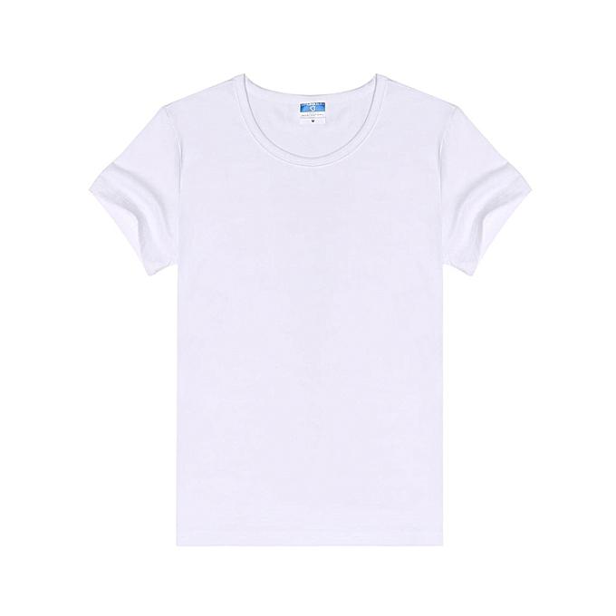 Sunshine T shirt ras du cou simple à manches courtes à prix pas cher
