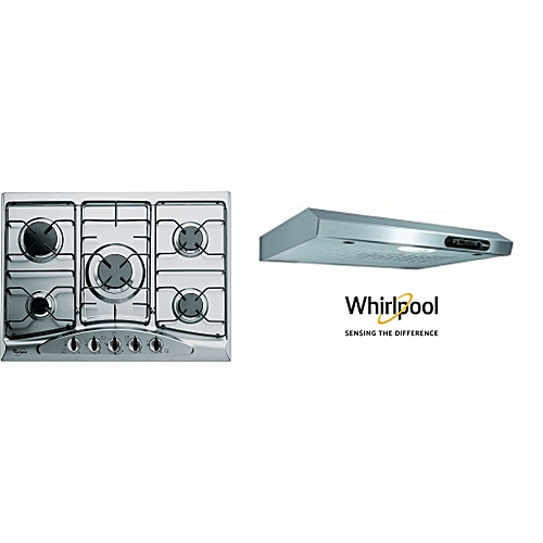 Whirlpool Pack Duo Inox Whirpool Plaque 5 Feu 70 Cm Hotte 60 Cm